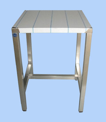 Fabricant de table centrale en inox